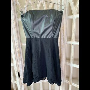 Naven mini faux leather fit and flare dress